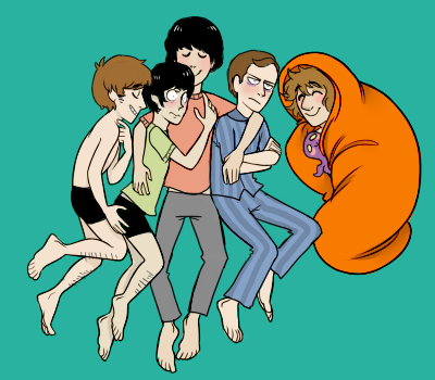 Slumber party Beatle (and Brian Epstein) by Jellyfish2347