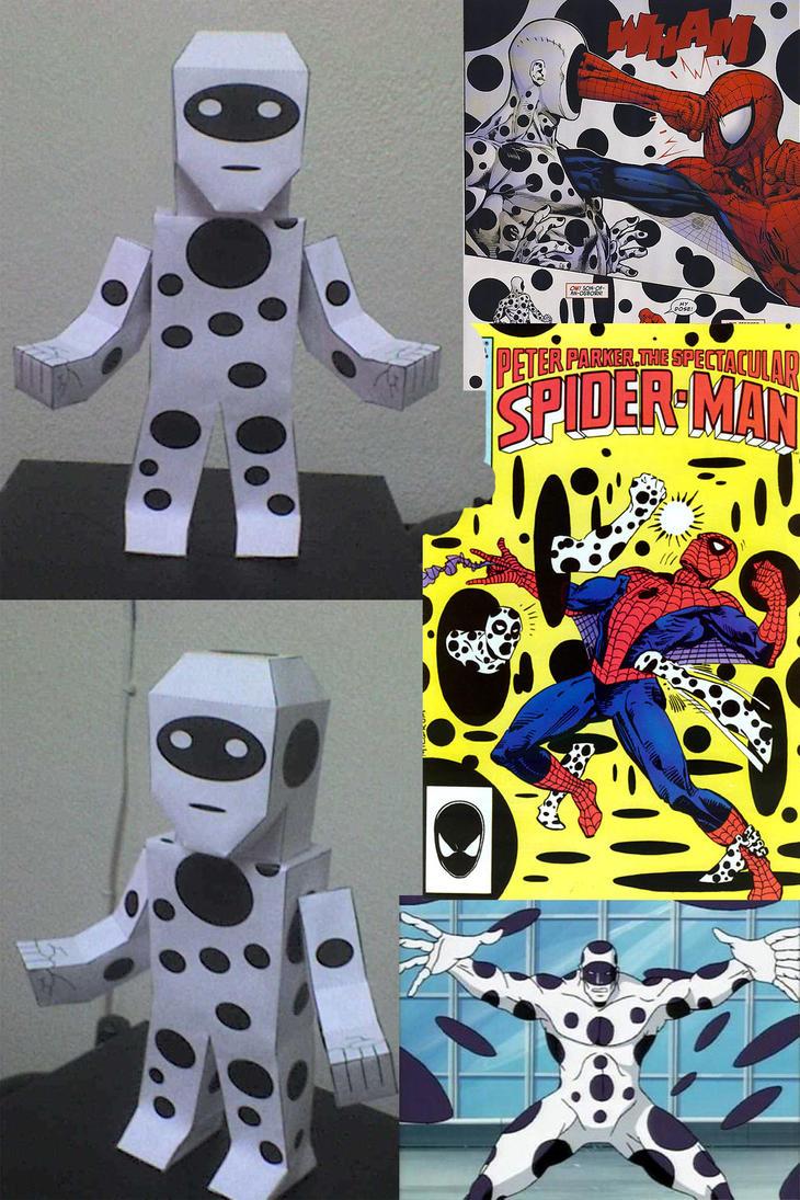 SPOT LA MANCHA SPIDERMAN PAPERCRAFT by tenchaos