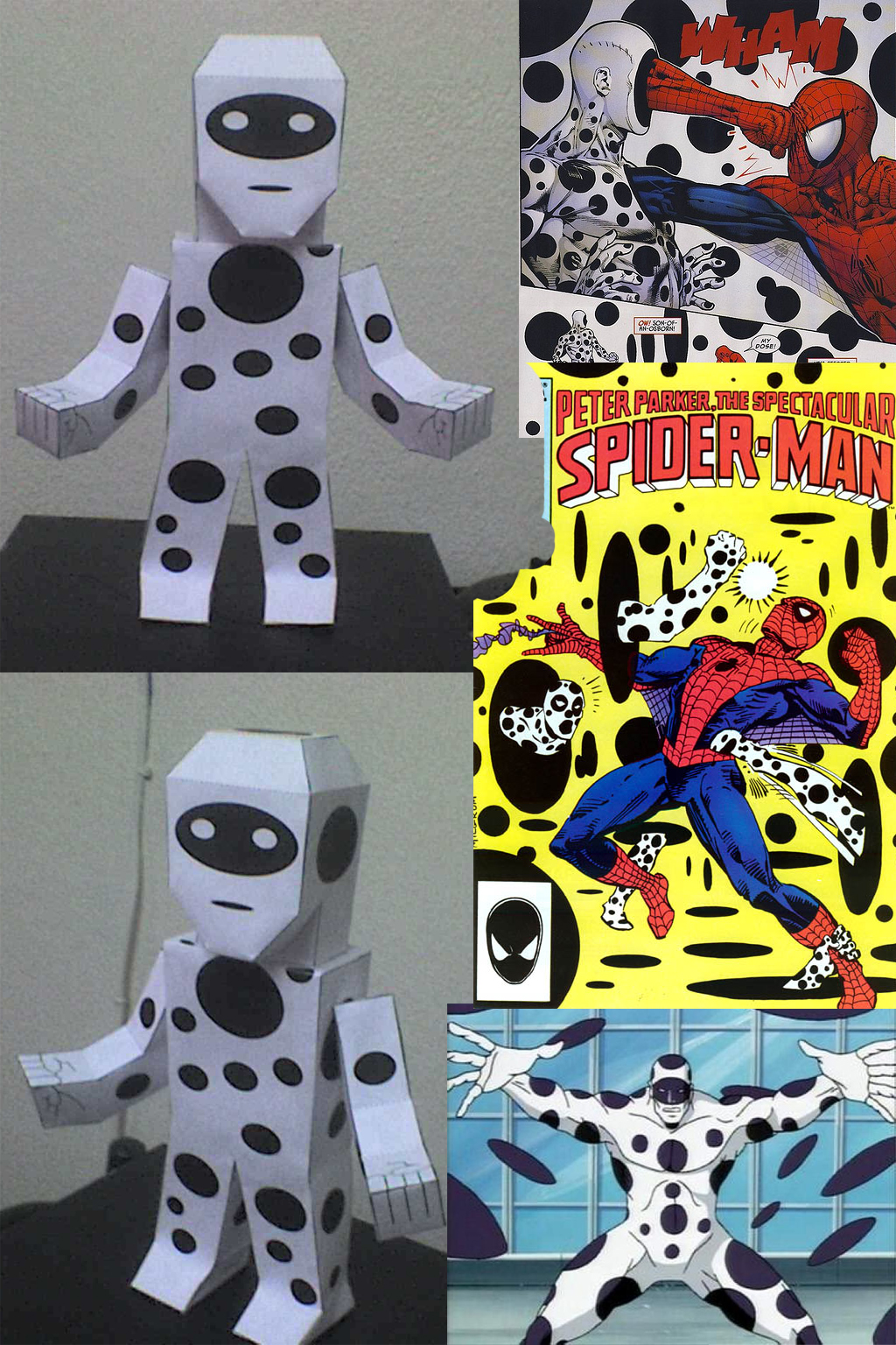 SPOT LA MANCHA SPIDERMAN PAPERCRAFT by tenchaos