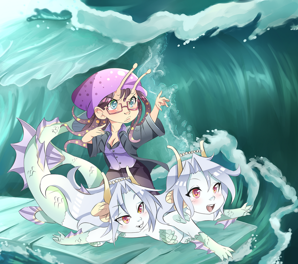 Pisces Mermaids Ice Surf By HEARTZMD