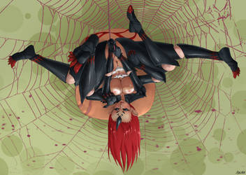 Dangling arachne monstergirl by HEARTZMD