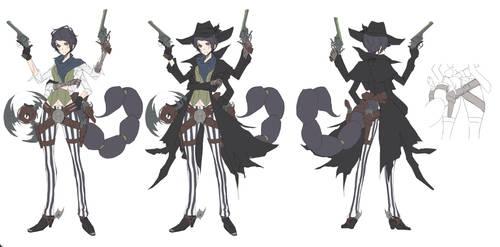 Scorpion girl gunslinger