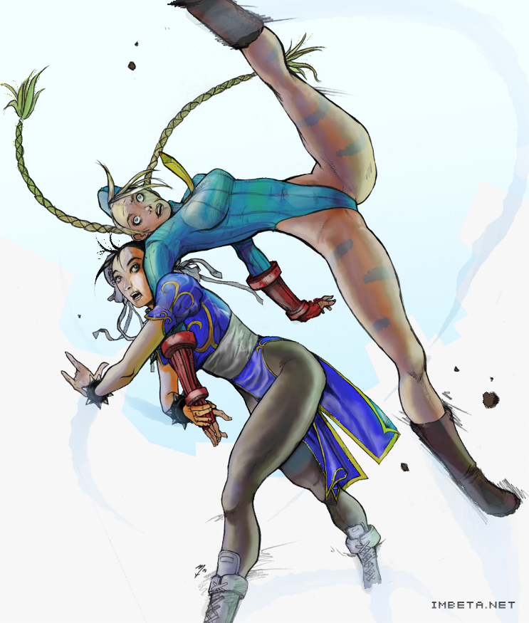 Chun-Li Vs. Cammy by IMBETA-net