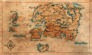 Map Of Western Nirn by cakinsey1991