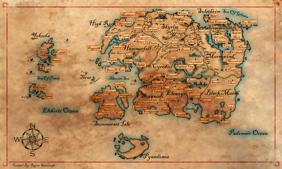 Good Map Of Western Nirn By Cakinsey1991 ...