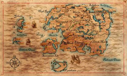 Western Hemisphere of Nirn (Revisited) by cakinsey1991