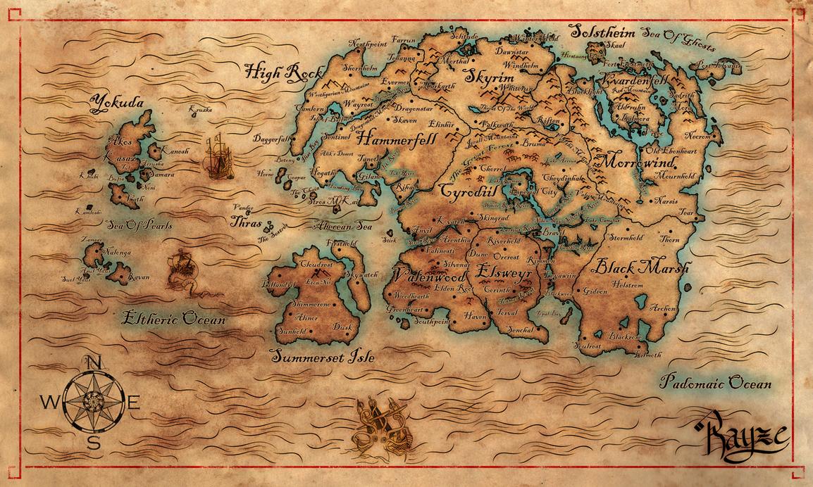 Map Of Nirn Final3 By Cakinsey1991 On Deviantart