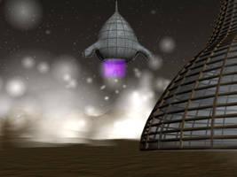 Spaceship by telruya