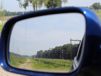 Car Side Mirror Landscape