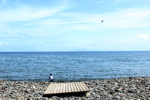 A Kid and  the sea