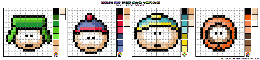 South Park X Stitch Template By Rainbowrei On DeviantArt