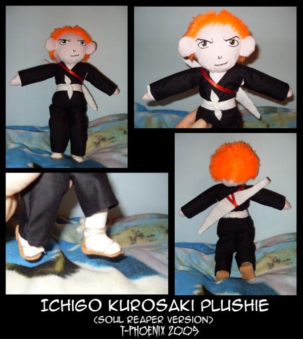 Ichigo Kurosaki Plushie by Heliotrope-Housecat
