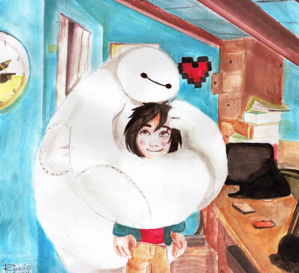 Hiro and Baymax by Psycho--killer