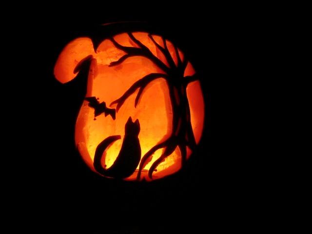 Halloween spooky cat pumpkin by formel on deviantart for Cat carved into pumpkin