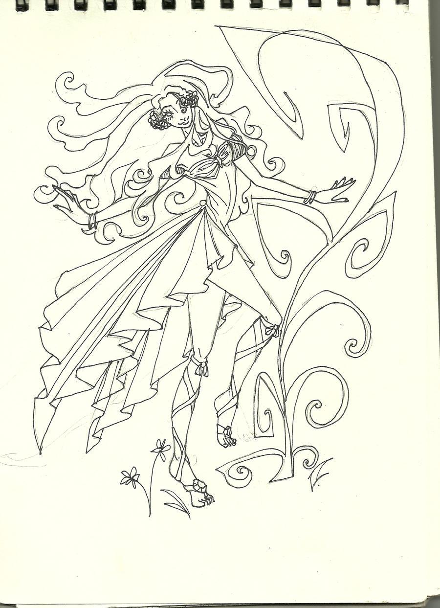 Line Drawing Lady : Lady demeter line art by matsukari on deviantart