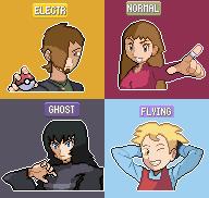 Pokemon shining wish elite four by Omega9898