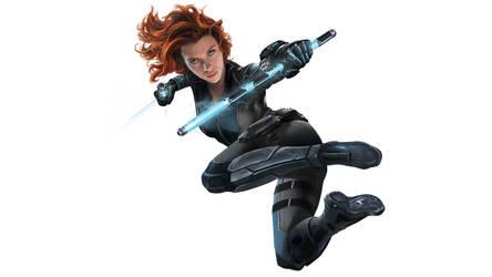 Captain America Civil War Black Widow by vgwallpapers