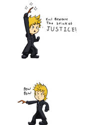 Roxas and the stick  by aniamalman