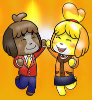 Isabelle and Digby B-day gift by aniamalman