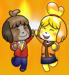 Isabelle and Digby B-day gift