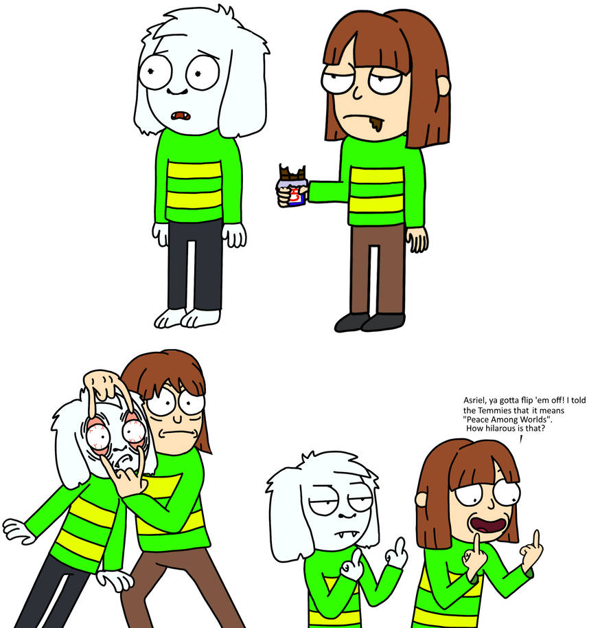 Chara and Asriel by aniamalman
