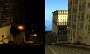 Day and night in San Fierro