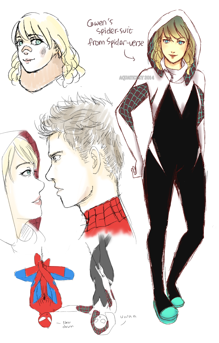 Gwen as Spider-Woman by aquaticsky on DeviantArt