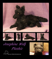 floppy black Wolf plushie