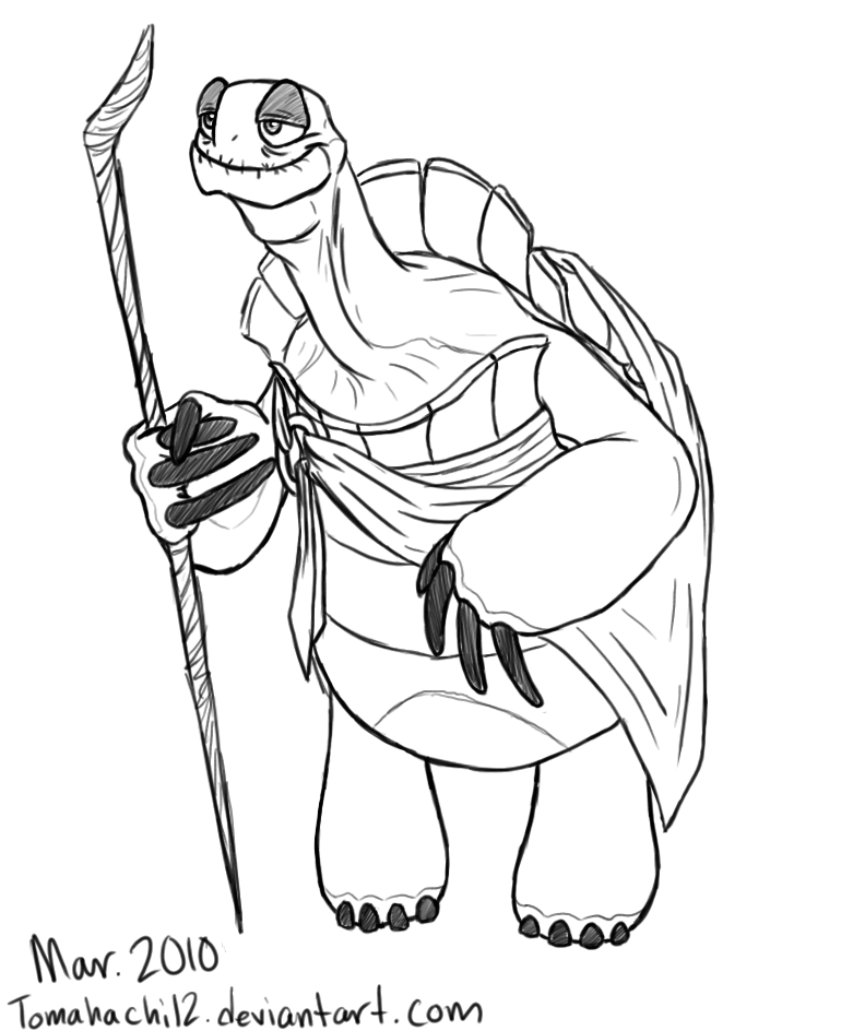 oogway coloring pages - photo#1