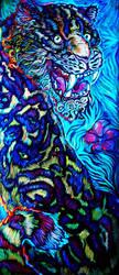 Jaguar Painting Blacklight by Crowbawt