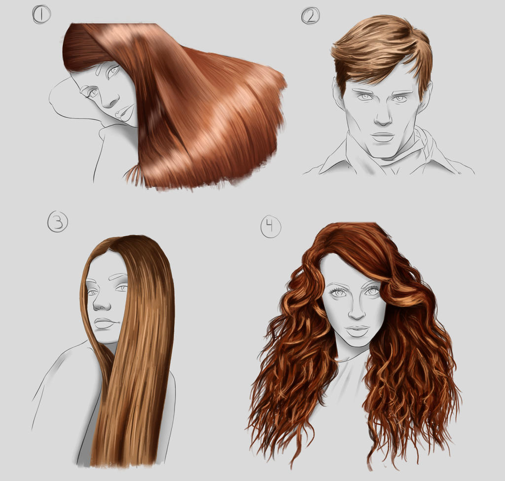 Hair Studies by Wraeclast on DeviantArt