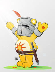 Solaire Bear (Dark Souls - Care Bears Crossover)