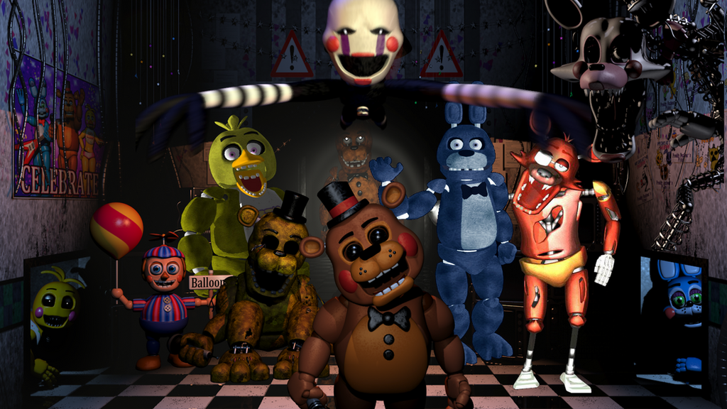 Five nights at freddy s the animatronic s by multishadowyoshi on