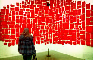 Girl and the Red Mosaic