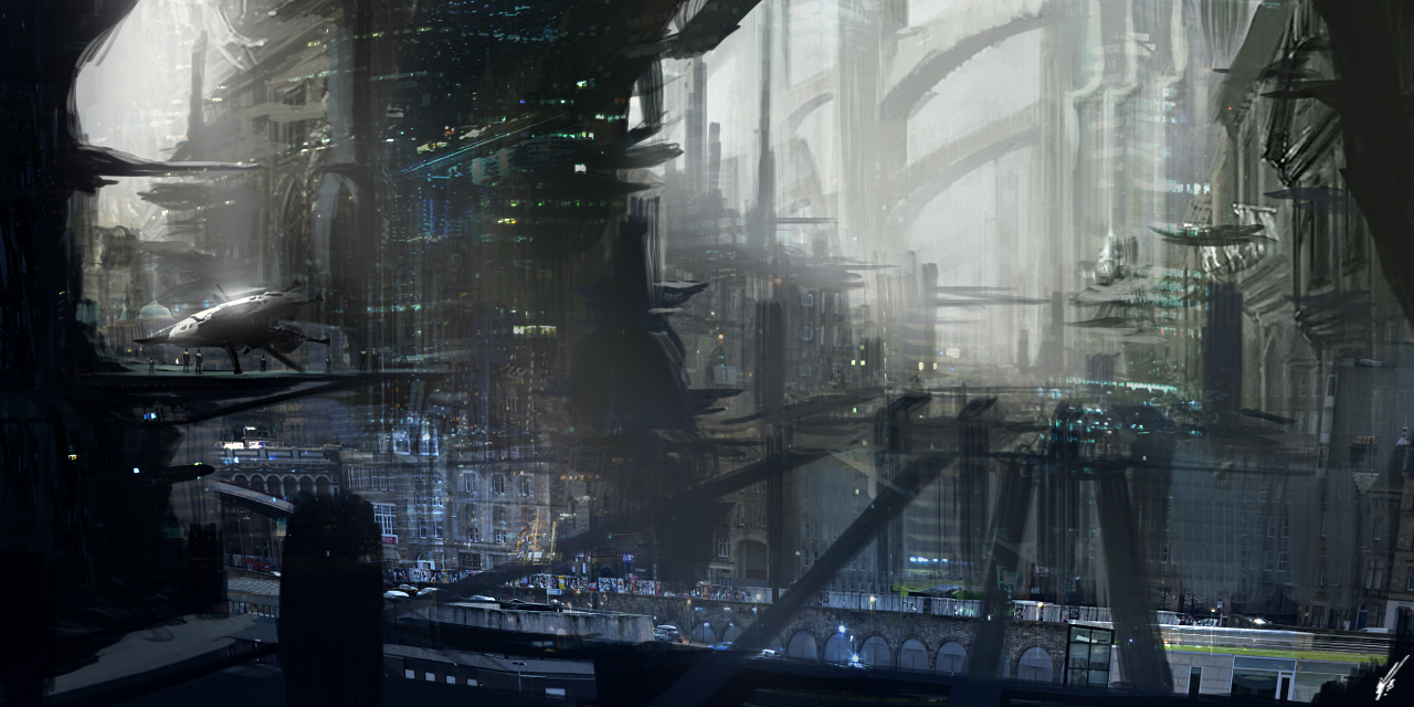 Sci-Fi City 0 by SolarSouth