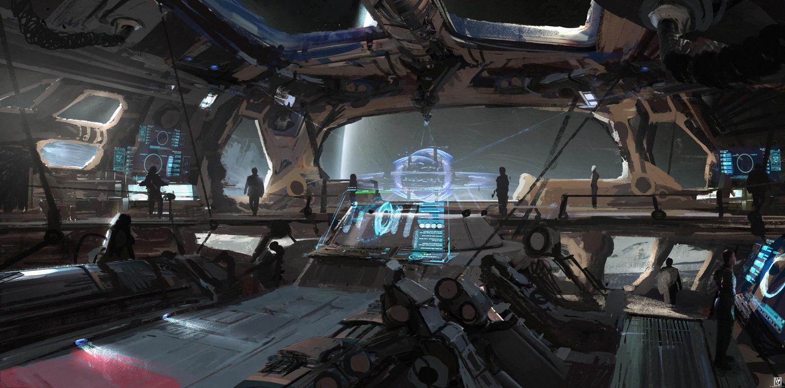 single person bridge sci fi spacecraft - photo #19