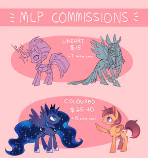 MLP commission prices
