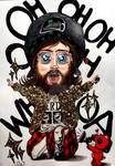 JARED LETO with GLITTER in CARTOONSTYLE  by SUSI-the-FUZZYHEAD