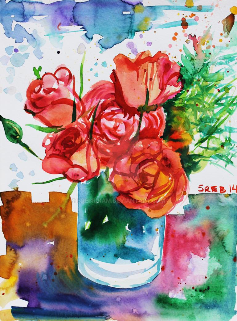 Vase with flowers by srebrinaM