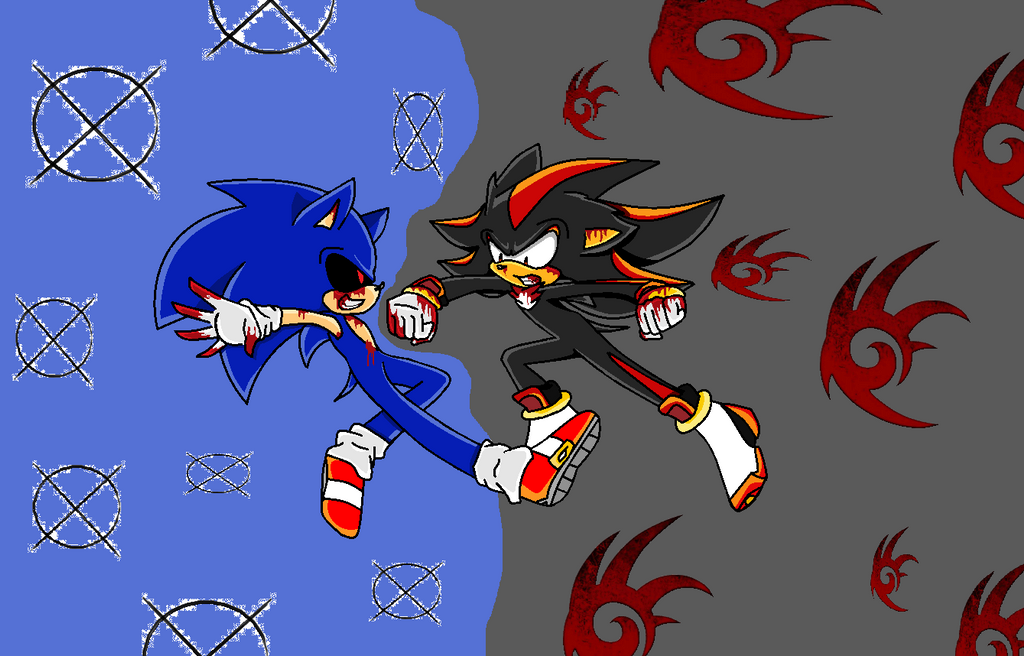 Shadow vs by silonadow on deviantart - Jeux de sonic vs shadow ...