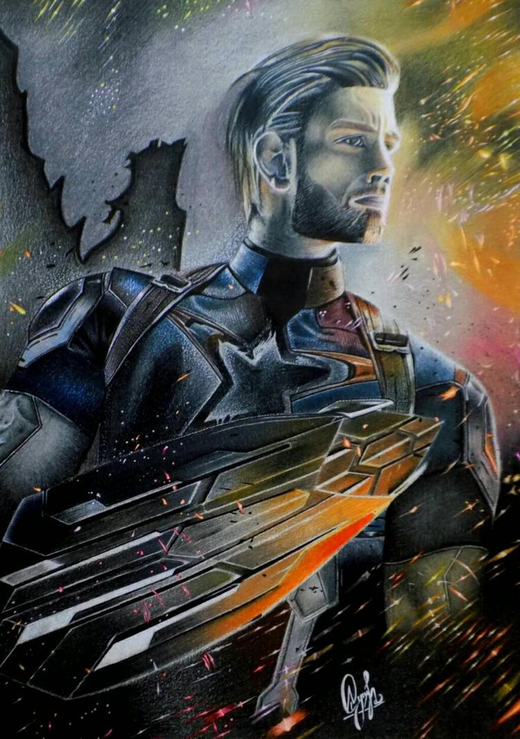 Captain America ! by AyushSant