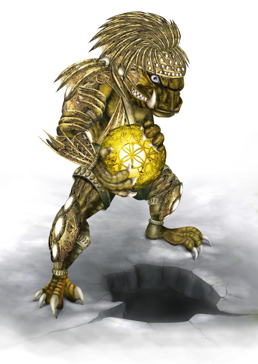 Monster with majic globe by hereisanoop