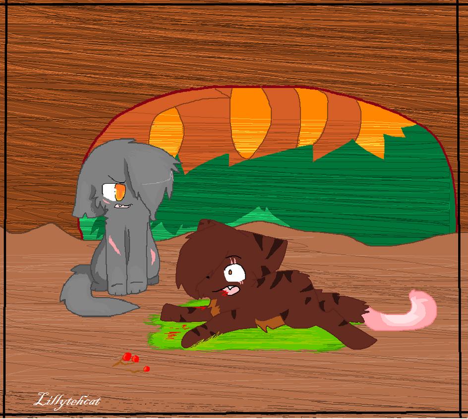 Brokenstar death by Lillytehcat