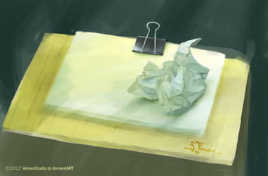 Painting from Nature:  Crumpled Paper