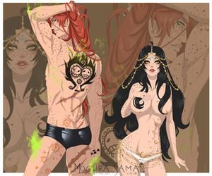 [One Piece Oc] Birthmark of the twins by MoguraSama