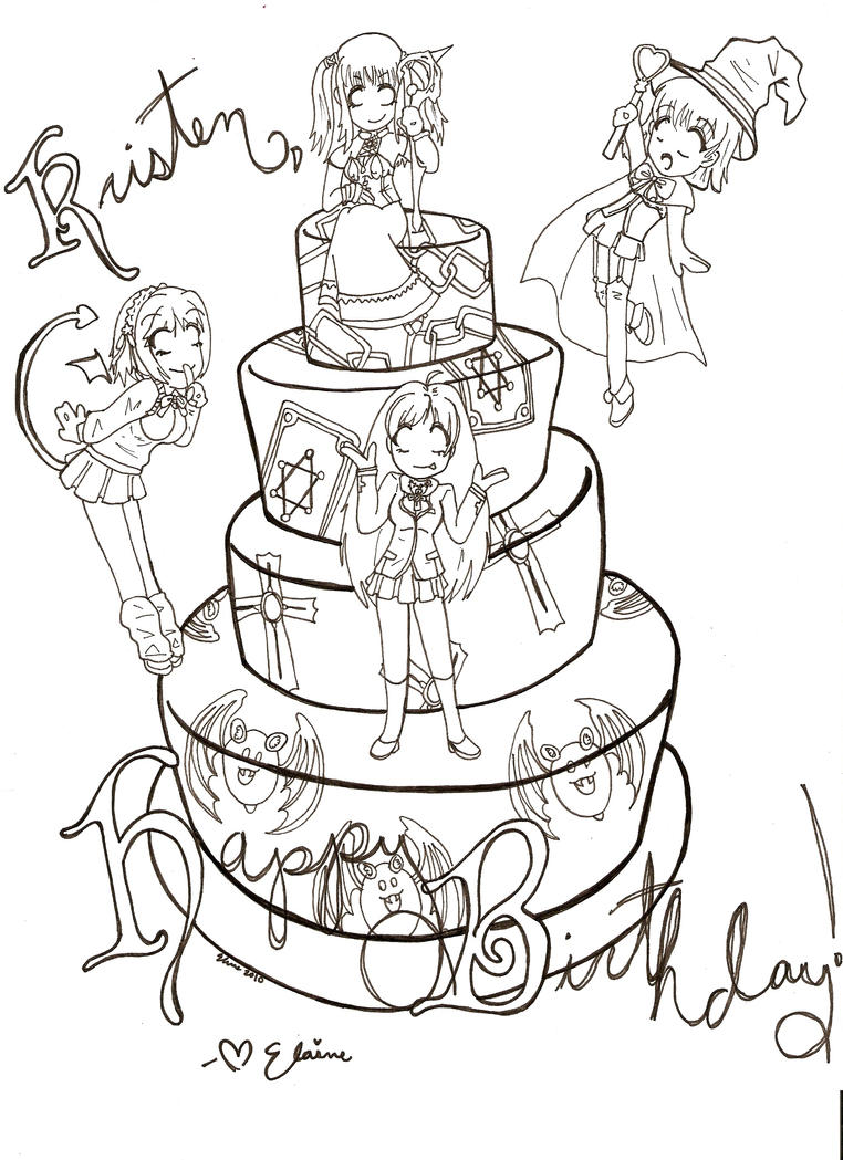 rosario vampire birthday card by logfangirl1234 on deviantart