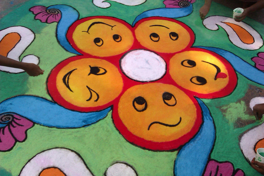 Ganesh rangoli designs coloring pages - Smiley Rangoli By Subhashini Siva On Deviantart
