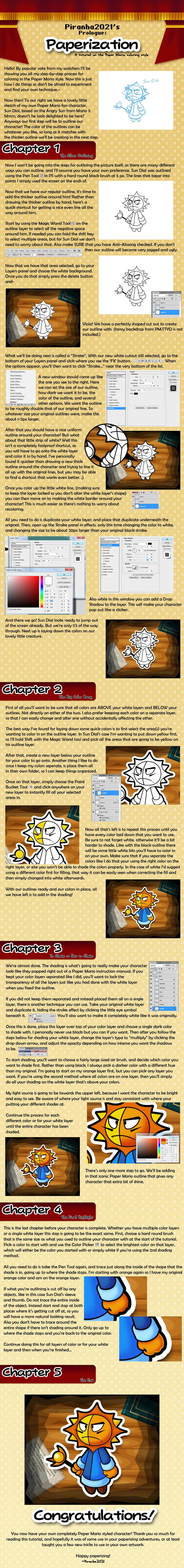 Paper Mario Style Tutorial by Piranhartist