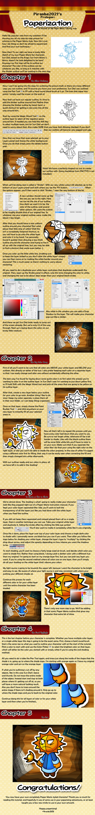 Paper Mario Style Tutorial by Piranha2021