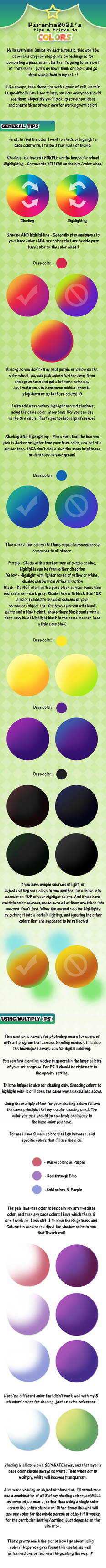 Color and Shading Tutorial by Piranhartist